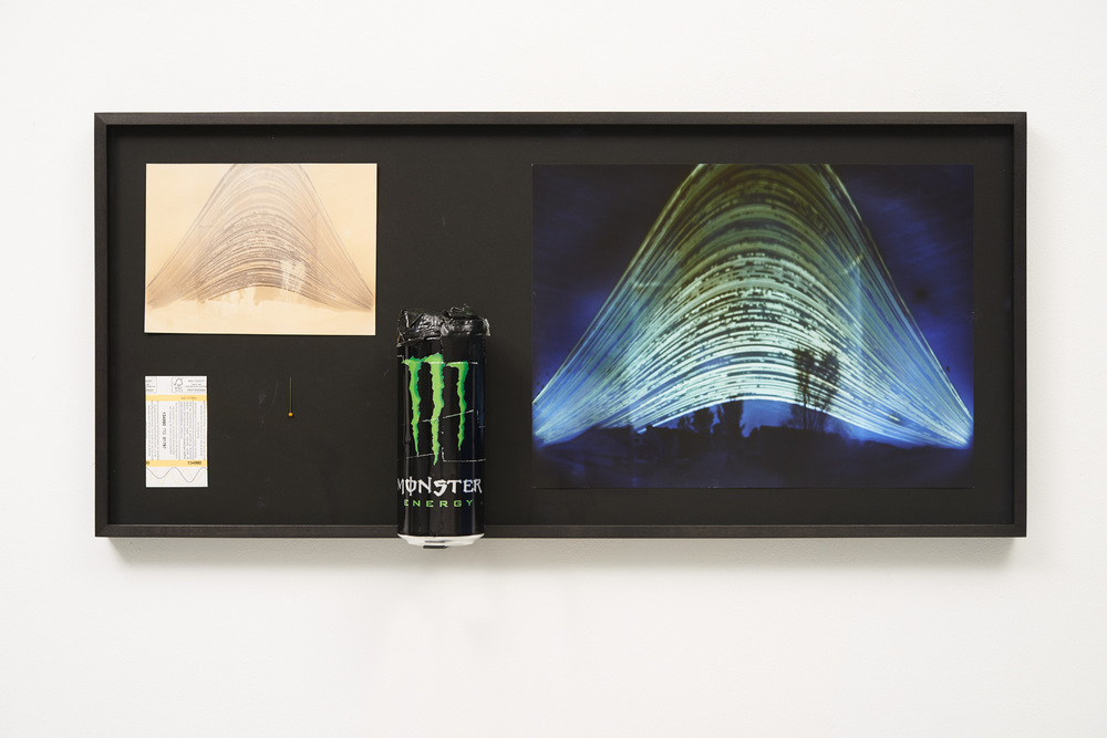 Navid Nuur, Location (Study), 2012, C-print, photographic paper, soda can 500ml, needle, train ticket, sunlight, tape, 6 months. 71 x 32.5 x 10cm., photo: Jhoeko, courtesy of the artist and Martin van Zomeren, Amsterdam
