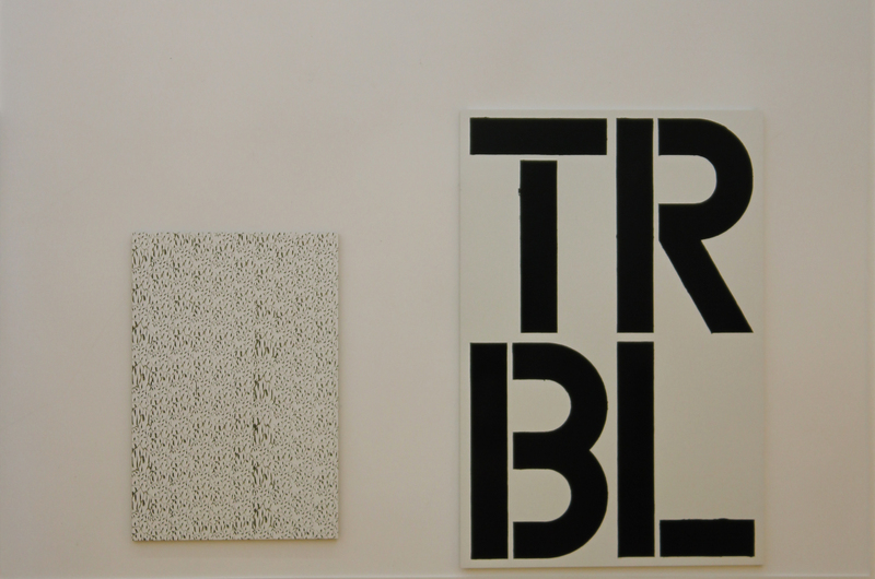 Christopher Wool, installation view, Kunsthalle Bern, 1991