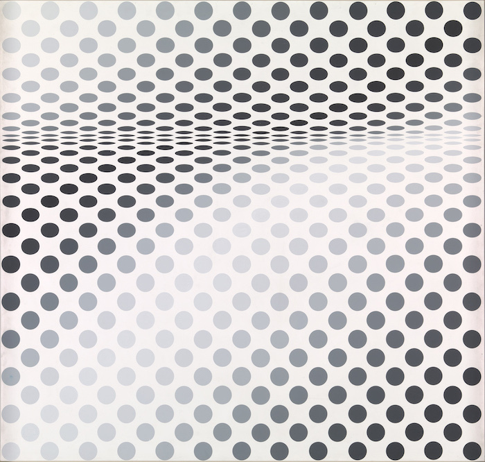 Bridget Riley, Hesitate, 1964 © Tate, London/Bildrecht Wien/ Bridget Riley, 2019